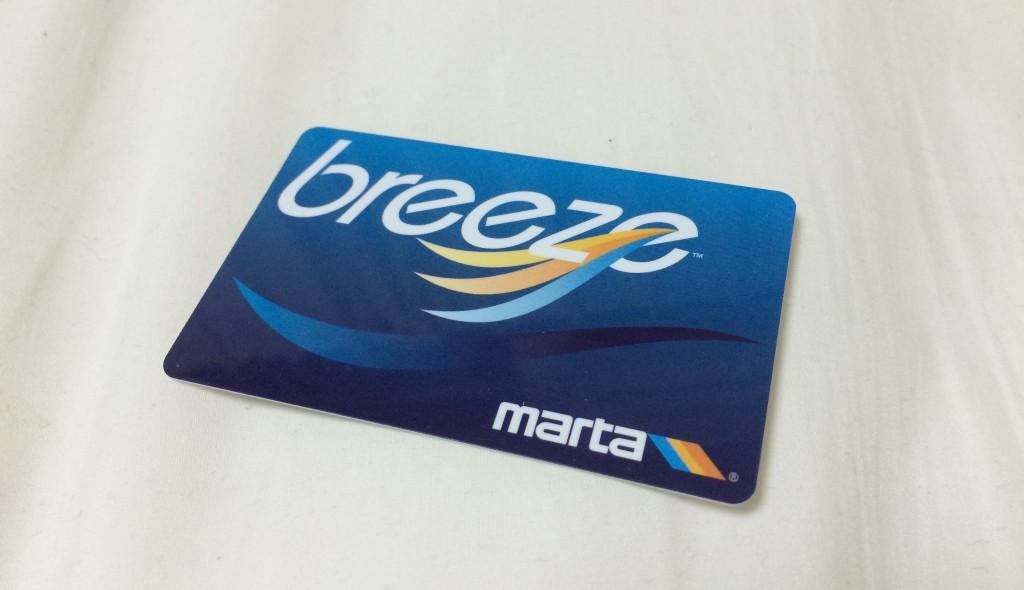 アトランタを走る鉄道網「MARTA」の乗車カード。SUICA的Thing