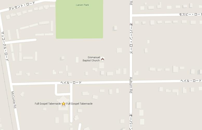アル・グリーン教会の周辺地図