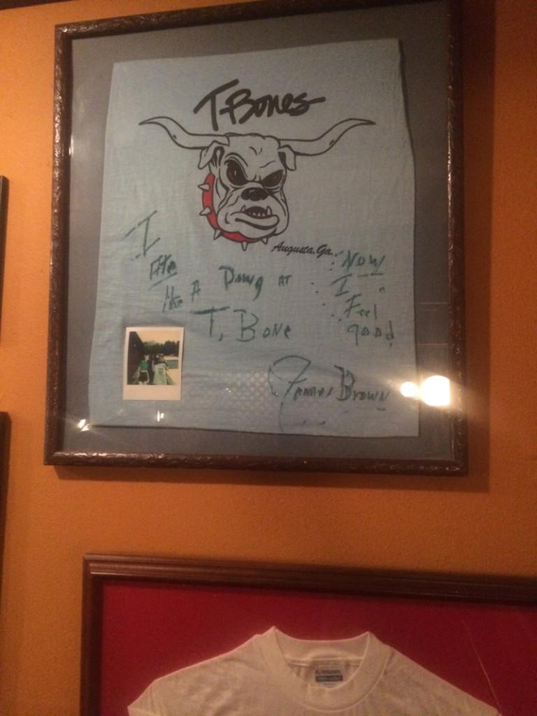 ジェームス・ブラウンのサイン